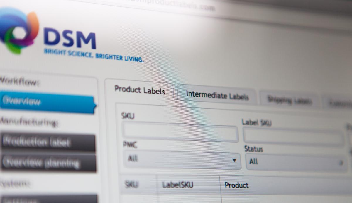 Dsm Keukens Nederland : DSM Label Applicatie » XD designers